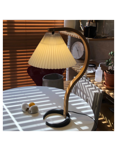 Vintage Corrugated Table Light