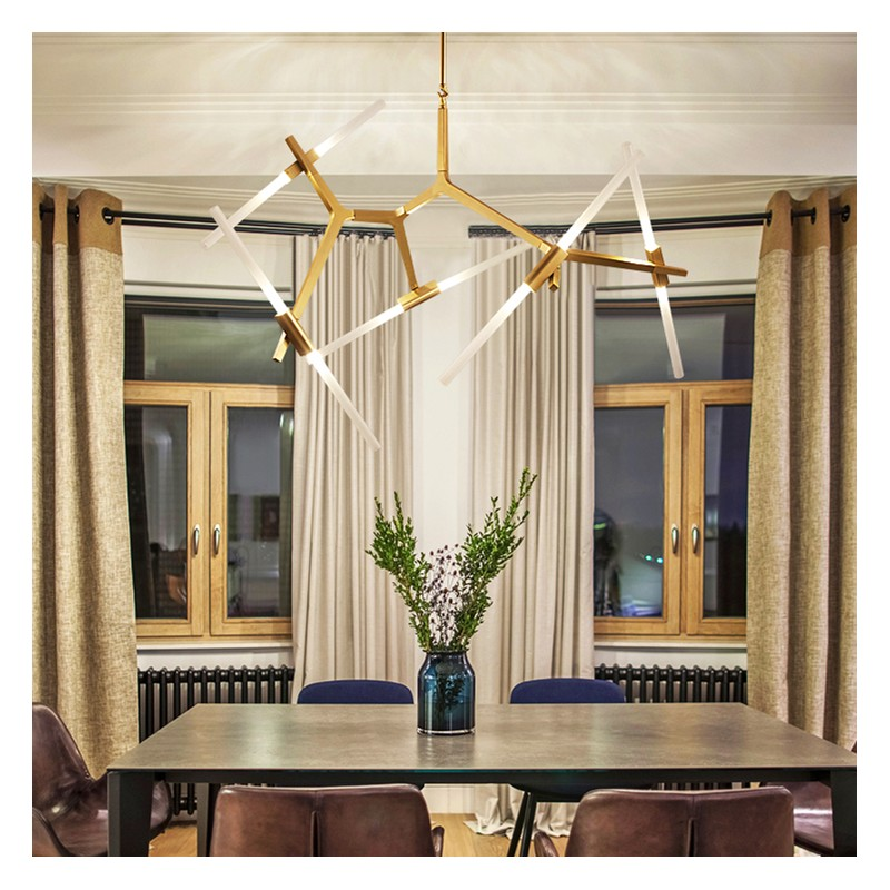 Aura Contemporary Chandelier, Contemporary Chandeliers For Dining Room